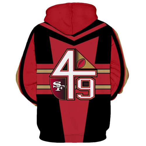 **(OFFICIALLY-LICENSED-N.F.L. SAN-FRANCISCO-49ERS-TEAM-HOODIES/NICE-CUSTOM-DETAILED-3D-GRAPHIC-PRINTED/PREMIUM-ALL-OVER-DOUBLE-SIDED-PRINT/OFFICIAL-49ERS-TEAM-COLORS & CLASSIC-49ERS-TEAM-LOGOS/DEEP-POCKETED-PULLOVER-HOODIES)**