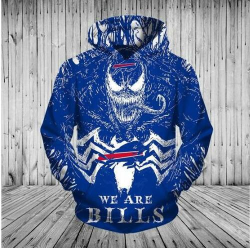 93d856c0 **(OFFICIAL-N.F.L.BUFFALO-BILLS/3D-VENOM-MOVIE-SKULL &  WE-ARE-BILLS/BIG-OFFICIAL-BUFFALO-BILLS-LOGOS-ON-FRONT,NICE-CUSTOM-3D-ALL-OVER-GRAPHIC-PRINTED/...