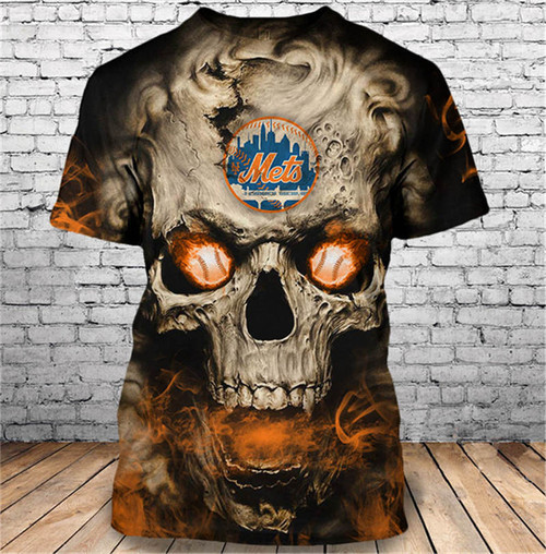 **(OFFICIAL-M.L.B.NEW-YORK-METS-LOGO-SHORT-SLEEVE-TEES/3D-NEON-SKULL & HOT-NEW-YORK-METS-BLAZING-FIERY-BASEBALL-EYES-IN-SKULL,CUSTOM-3D-ALL-OVER-GRAPHIC-PRINTED-DOUBLE-SIDED-DESIGN/PREMIUM-M.L.B.METS-TEAM-COLORED-TRENDY-SHORT-SLEEVE-TEES)**