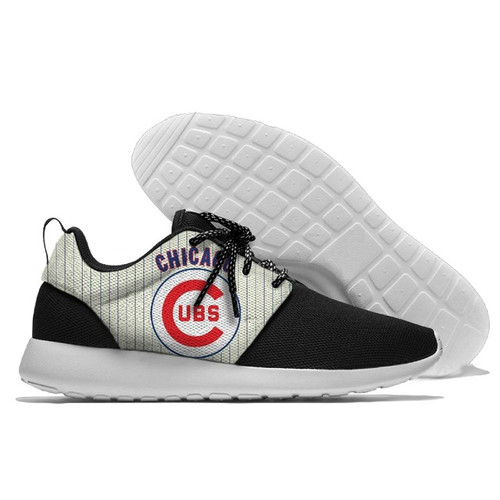 **(OFFICIALLY-LICENSED-M.L.B.CHICAGO-CUBS-RUNNING-SHOES,MENS-OR-WOMENS-ROSHE-STYLE,LIGHT-WEIGHT-SPORT-PREMIUM-RUNNING-SHOES/WITH-OFFICIAL-CHICAGO-CUBS-TEAM-COLORS & OFFICIAL-CUBS-TEAM-LOGOS,SPECIAL-CUSHIONED-COMFORT-INSOLES/TRENDY-TWO-TONE-DESIGN)**