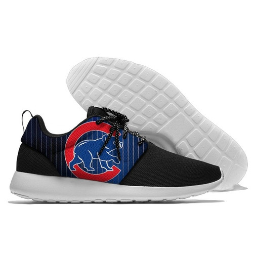 **(OFFICIALLY-LICENSED-M.L.B.CHICAGO-CUBS-RUNNING-SHOES,MENS-OR-WOMENS-ROSHE-STYLE,LIGHT-WEIGHT-SPORT-PREMIUM-RUNNING-SHOES/WITH-OFFICIAL-CHICAGO-CUBS-TEAM-COLORS & OFFICIAL-CUBS-TEAM-LOGOS,SPECIAL-COMFORT-CUSHIONED-INSOLES/TRENDY-TWO-TONE-DESIGN)**