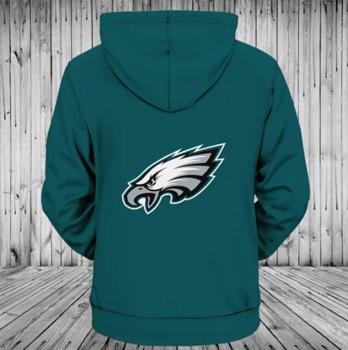 **(OFFICIALLY-LICENSED-N.F.L.PHILADELPHIA-EAGLES-TEAM-ZIPPERED-HOODIES/NICE-CUSTOM-3D-GRAPHIC-PRINTED-DOUBLE-SIDED-ALL-OVER-OFFICIAL-EAGLES-LOGOS,IN-EAGLES-TEAM-COLORS/WARM-PREMIUM-OFFICIAL-N.F.L.EAGLES-TEAM-ZIPPER-UP-FRONT-POCKET-HOODIES)**