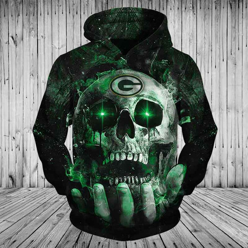 **(OFFICIAL-N.F.L.GREEN-BAY-PACKERS-TEAM-PULLOVER-NEON-SKULL-HOODIES/NICE-CUSTOM-3D-GRAPHIC-PRINTED-DOUBLE-SIDED-ALL-OVER-OFFICIAL-PACKERS-LOGOS,IN-PACKERS-TEAM-COLORS/WARM-PREMIUM-OFFICIAL-N.F.L.PACKERS-TEAM-TRENDY-PULLOVER-POCKET-HOODIES)**
