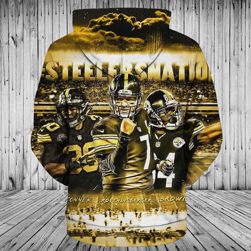 **(OFFICIAL-N.F.L.PITTSBURGH-STEELERS-NATION & NO.7-PULLOVER-HOODIES/CUSTOM-3D-NEON-GRAPHIC-PRINTED-DOUBLE-SIDED-ALL-OVER-OFFICIAL-STEELERS-LOGOS,IN-STEELERS-TEAM-COLORS/WARM-PREMIUM-OFFICIAL-N.F.L.STEELERS-TEAM-TRENDY-PULLOVER-POCKET-HOODIES)**