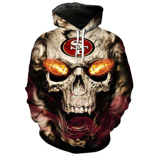 **(OFFICIALLY-LICENSED-N.F.L.SAN-FRANCISCO-49ERS,TRENDY-PULLOVER-HOODIES & NEON-GLOWING-FIERY-49ERS-FOOTBALL-EYES,NICE-CUSTOM-3D-GRAPHIC-PRINTED-ALL-OVER/DOUBLE-SIDED-49ERS-FOOTBALL-LOGO-TEAM-COLORS,PREMIUM-PULLOVER-POCKET-HOODIES:)**