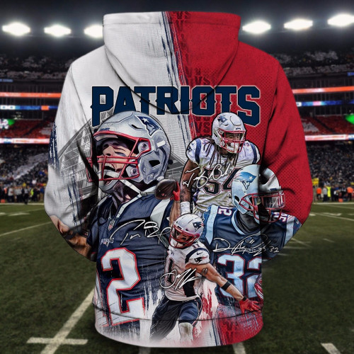 **(OFFICIAL-N.F.L.NEW-ENGLAND-PATRIOTS-ALL-STAR-WINNING-TEAM-FRONT-PULLOVER-HOODIES/CUSTOM-3D-PATRIOTS-TEAM-COLORS-GROUP-DESIGN,PREMIUM-3D-GRAPHIC-PRINTED-PATRIOTS-LOGOS/DOUBLE-SIDED-WARM-N.F.L.PATRIOTS-TEAM-COLORED-PULLOVER-HOODIES)**