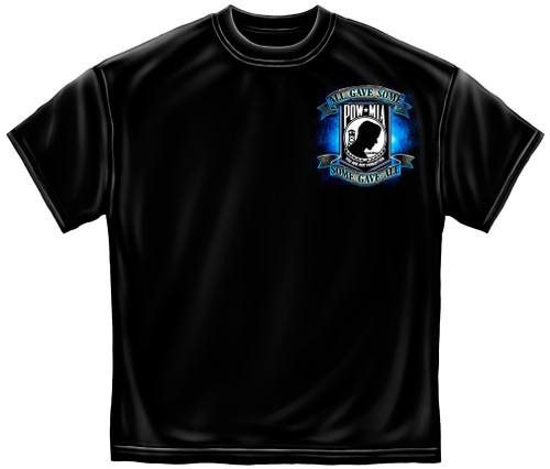 (OFFICIALLY-LICENSED-MILITARY, P.O.W. & M.I.A.WITH-EAGLE & P.O.W.LOGO,NICE-DOUBLE-SIDED-PREMIUM-GRAPHIC-PRINTED-VETERANS-TEES:)