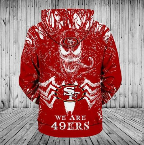 **(OFFICIALLY-LICENSED-N.F.L.SAN-FRANCISCO-49ERS/CLASSIC-VENOM-HORROR-MOVIE-CHARACTER-PULLOVER-HOODIES/NICE-DETAILED-PREMIUM-CUSTOM-3D-GRAPHIC-PRINTED/ALL-OVER-PRINTED-DESIGN,PREMIUM-WARM-N.F.L.SAN-FRANCISCO-49ERS-LOGO-PULLOVER-HOODIES)**