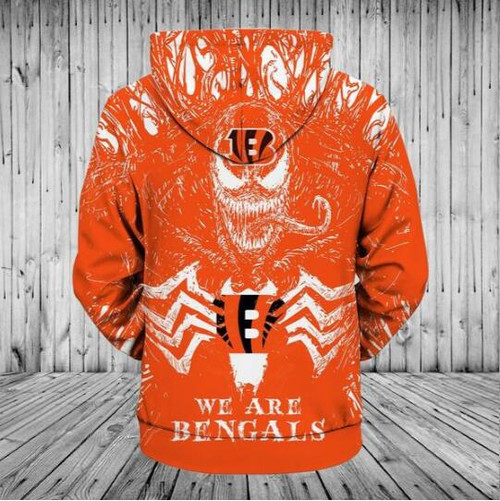 **(OFFICIALLY-LICENSED-N.F.L.CINCINNATI-BENGALS/CLASSIC-VENOM-HORROR-MOVIE-CHARACTER-PULLOVER-HOODIES/NICE-DETAILED-PREMIUM-CUSTOM-3D-GRAPHIC-PRINTED/ALL-OVER-PRINTED-DESIGN,PREMIUM-WARM-N.F.L.CINCINNATI-BENGALS-LOGO-PULLOVER-HOODIES)**