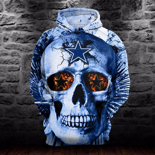 **(OFFICIALLY-LICENSED-N.F.L.DALLAS-COWBOYS-HOODIES/3D-GREEN-NEON-SKULL & CUSTOM-3D-GRAPHIC-PRINTED-OFFICIAL-COWBOYS-SKULL-LOGOS,NICE-DOUBLE-SIDED-GRAPHIC-PRINT-DESIGN/VERY-UNIQUE-PREMIUM-PULLOVER-COWBOYS-TEAM-COLORS-HOODIES)**