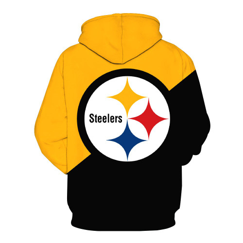 **(OFFICIALLY-LICENSED-N.F.L.PITTSBURGH-STEELERS-PULLOVER-POCKET-HOODIES/OFFICIAL-3D-GRAPHIC-PRINTED-STEELERS-LOGOS & IN-STEELERS-TEAM-COLORS/NICE-DETAILED-PREMIUM-DOUBLE-SIDED-GRAPHIC-PRINTED-DESIGN,OFFICIAL-N.F.L.STEELERS-TEAM-PULLOVER-HOODIES)**