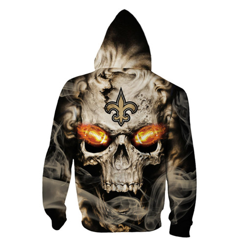 **(OFFICIAL-N.F.L.NEW-ORLEANS-SAINTS-LOGO-ZIPPERED-HOODIES/3D-NEON-SKULL & NEW-ORLEANS-SAINTS-BLAZING-FOOTBALL,ON-FIRE-IN-SKULLS-EYES,PREMIUM-3D-CUSTOM-GRAPHIC-PRINTED/DOUBLE-SIDED-N.F.L. SAINTS-TEAM-COLORED-WARM-ZIP-UP-FRONT-HOODIES)**