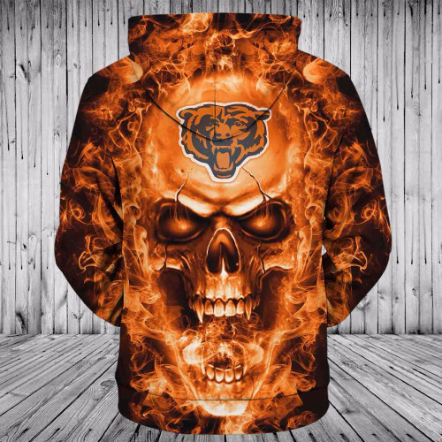 **(OFFICIAL-N.F.L.CHICAGO-BEARS-TEAM-NEON-SKULL-ZIPPERED-HOODIES/CUSTOM-3D-NEON-GRAPHIC-PRINTED-DOUBLE-SIDED-ALL-OVER-OFFICIAL-BEARS-TEAM-LOGOS,IN-BEARS-TEAM-COLORS/WARM-PREMIUM-OFFICIAL-N.F.L.BEARS-TEAM-TRENDY-ZIPPERED-POCKET-HOODIES)**