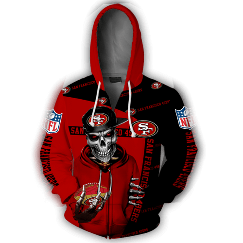 **(OFFICIAL-N.F.L.SAN-FRANCISCO-49ERS-ZIPPERED-HOODIES/NEON-RED-49ERS-SKELETON-FAN/OFFICIAL-CUSTOM-3D-49ERS-LOGOS & OFFICIAL-49ERS-TEAM-COLORS/NICE-CUSTOM-3D-GRAPHIC-PRINTED-DOUBLE-SIDED-DESIGN/WARM-PREMIUM-N.F.L.49ERS-TEAM-LIGHT-ZIPPERED-HOODIES)**