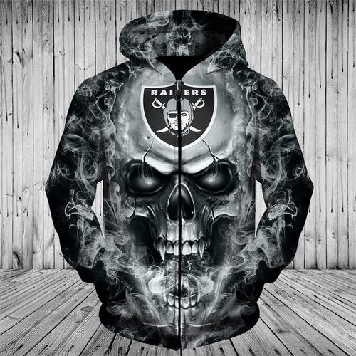 **(OFFICIAL-N.F.L.OAKLAND-RAIDERS-ZIPPERED-HOODIES/CUSTOM-3D-NEON-RAIDERS-BLACK-SMOKING-SKULL,PREMIUM-3D-GRAPHIC-PRINTED,DOUBLE-SIDED-ALL-OVER-DESIGN/N.F.L.RAIDERS-TEAM-COLORED-WARM-ZIP-UP-FRONT-HOODIES)**