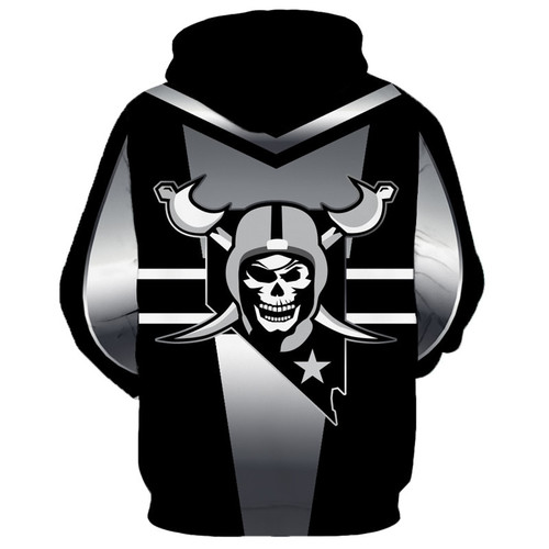 **(NEW-OFFICIALLY-LICENSED-N.F.L. OAKLAND-RAIDERS-OFFICIAL-TEAM-HOODIES/NICE-CUSTOM-DETAILED-3D-GRAPHIC-PRINTED/PREMIUM-ALL-OVER-DOUBLE-SIDED-PRINT-DESIGN/OFFICIAL-RAIDERS-TEAM-COLORS & CLASSIC-RAIDERS-LOGOS/DEEP-POCKETED-PULLOVER-HOODIES)**