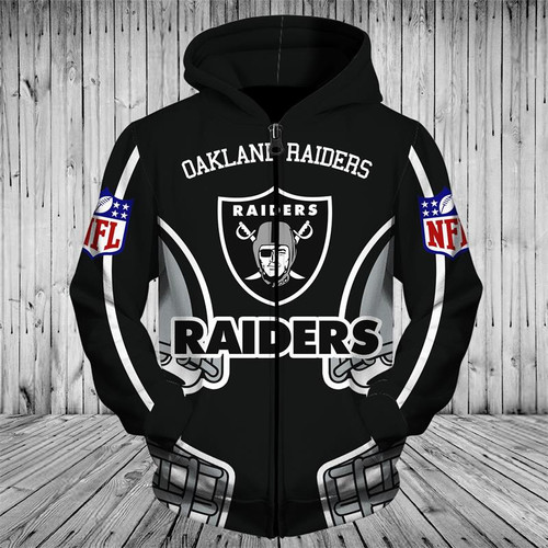 **(OFFICIALLY-LICENSED-N.F.L.OAKLAND-RAIDERS-TEAM-ZIPPERED-HOODIES/NICE-CUSTOM-3D-GRAPHIC-PRINTED-DOUBLE-SIDED-ALL-OVER-OFFICIAL-RAIDERS-LOGOS & IN-RAIDERS-TEAM-COLORS/WARM-PREMIUM-OFFICIAL-N.F.L.RAIDERS-TEAM-ZIPPER-UP-FRONT-POCKET-HOODIES)**