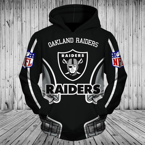 **(OFFICIALLY-LICENSED-N.F.L.OAKLAND-RAIDERS-TEAM-PULLOVER-HOODIES/NICE-CUSTOM-3D-GRAPHIC-PRINTED-DOUBLE-SIDED-ALL-OVER-OFFICIAL-RAIDERS-LOGOS & IN-RAIDERS-TEAM-COLORS/WARM-PREMIUM-OFFICIAL-N.F.L.RAIDERS-TEAM-PULLOVER-POCKET-HOODIES)**