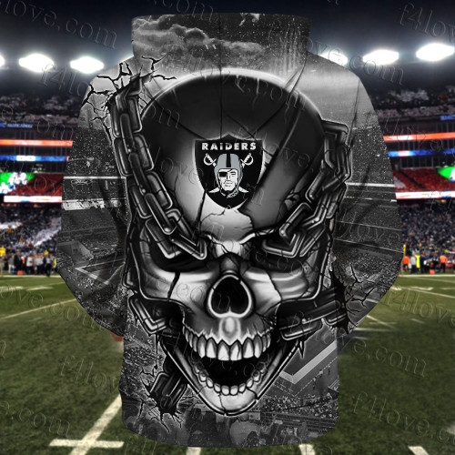 **(OFFICIAL-N.F.L.OAKLAND-RAIDERS-TEAM-FOOTBALL-ZIPPERED-HOODIES & RAIDERS-TEAM-LOGO-SKULL/OAKLAND-CITY-CHAINS,NICE-CUSTOM-3D-GRAPHIC-PRINTED-DOUBLE-SIDED-TEAM-LOGOS,ALL-OVER-PRINTED-DESIGN/OFFICIAL-RAIDERS-FOOTBALL-TEAM-FRONT-ZIPPERED-HOODIES:)**