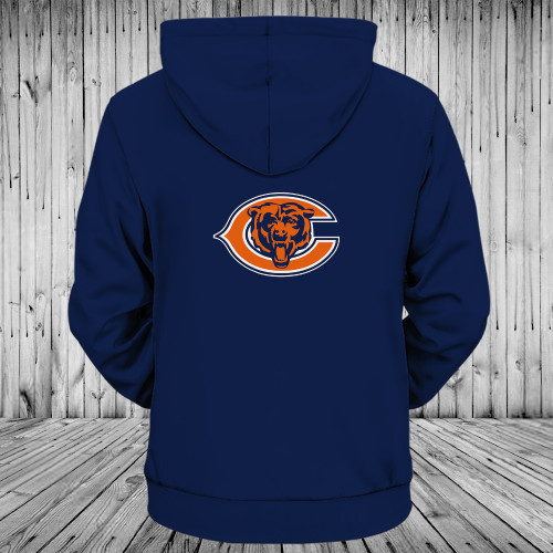 **(OFFICIALLY-LICENSED-N.F.L.CHICAGO-BEARS-TRENDY-PULLOVER-POCKET-HOODIES/CUSTOM-ALL-OVER-GRAPHIC-3D-PRINTED-IN-BEARS-TEAM-LOGOS & IN-OFFICIAL-BEARS-TEAM-COLORS/NICE-WARM-PREMIUM-OFFICIAL-N.F.L.BEARS-TEAM-PULLOVER-DEEP-POCKET-HOODIES)**