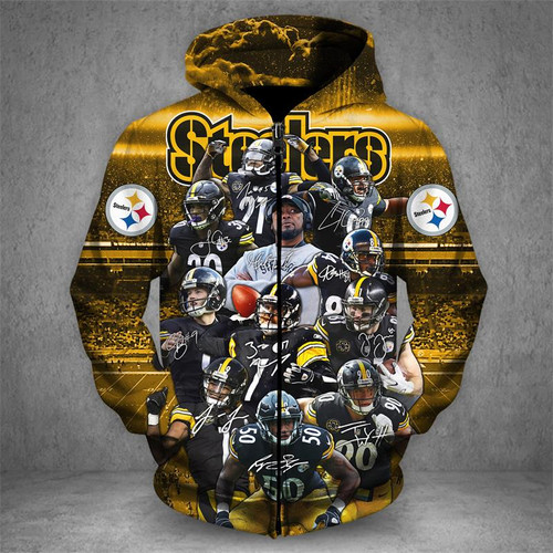 new product f22ce a1661 OFFICIAL-N.F.L.PITTSBURGH-STEELERS-TEAM-NEON-SKULL-ZIPPERED ...