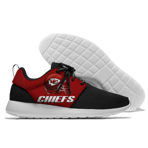 **(NEW-OFFICIALLY-LICENSED-N.F.L.KANSAS-CITY-CHIEFS-RUNNING-SHOES,MENS-OR-WOMENS-ROSHE-STYLE/LIGHT-WEIGHT-SPORT-RUNNING-SHOES,WITH-OFFICIAL-CHIEFS-TEAM-COLORS & CHIEFS-TEAM-LOGOS/WITH-SPECIAL-CUSHIONED-COMFORT-INSOLES & COMES-IN-ALL-SIZES:)**