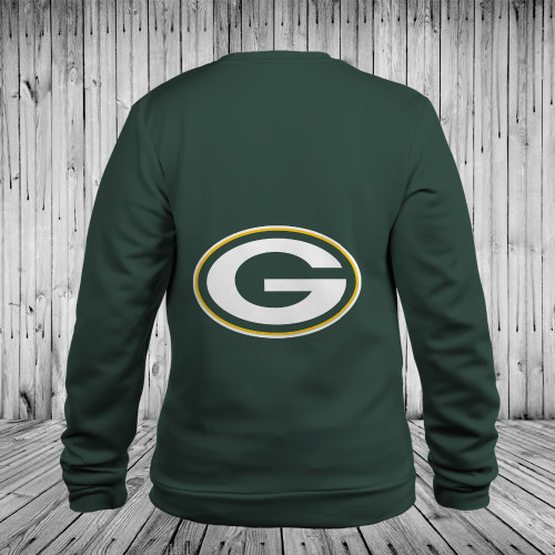 **(OFFICIALLY-LICENSED-N.F.L.GREEN-BAY-PACKERS-TEAM-LONG-SLEEVE-TEES/NICE-CUSTOM-3D-GRAPHIC-PRINTED-DOUBLE-SIDED-ALL-OVER-OFFICIAL-PACKERS-LOGOS,IN-PACKERS-TEAM-COLORS/WARM-PREMIUM-OFFICIAL-N.F.L.PACKERS-TRENDY-LONG-SLEEVE-TEAM-TEES)**