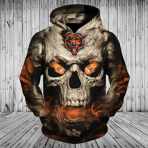 **(OFFICIAL-N.F.L.CHICAGO-BEARS-LOGO-PULLOVER-HOODIES/3D-NEON-SMOKING-SKULL & CHICAGO-BEARS-BLAZING-FOOTBALL/ON-FIRE-IN-SKULLS-EYES,PREMIUM-3D-CUSTOM-GRAPHIC-PRINTED/DOUBLE-SIDED-N.F.L.BEARS-TEAM-COLORED,WARM-DEEP-POCKET-PULLOVER-HOODIES)**