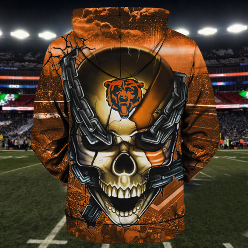 **(OFFICIAL-N.F.L.CHICAGO-BEARS-TEAM-FOOTBALL-ZIPPERED-HOODIES & OFFICIAL-BEARS-TEAM-LOGO-SKULL/CHICAGO-CITY-CHAINS,NICE-CUSTOM-3D-GRAPHIC-PRINTED-DOUBLE-SIDED-TEAM-LOGOS & ALL-OVER-PRINTED-DESIGN/OFFICIAL-BEARS-FOOTBALL-TEAM-ZIPPERED-HOODIES:)**