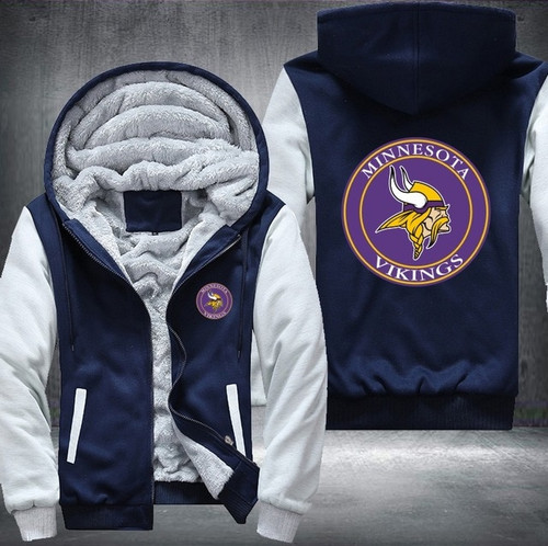 **(NEW-OFFICIALLY-LICENSED-N.F.L.MINNESOTA-VIKINGS/TRENDY-NEW-TWO-TONE-STYLE,SOFT-FLEECE-LINED-TEAM-JACKETS/3-D-CUSTOM-DETAILED-GRAPHIC-PRINTED-DOUBLE-SIDED-OFFICIAL-VIKINGS-LOGOS/OFFICIAL-TEAM-COLOR-POCKETED-ZIP-UP,WARM-PREMIUM-FLEECE-JACKETS)**