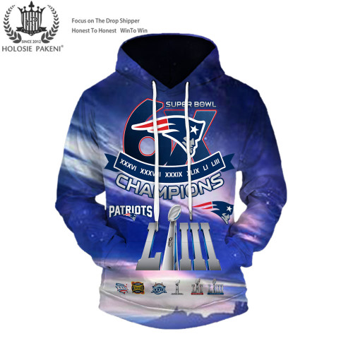 **(OFFICIAL-N.F.L.NEW-ENGLAND-PATRIOTS-CUSTOM-SUPER-BOWL-LIII-CHAMPIONS-PREMIUM-PULLOVER-HOODIES/SIX-TIMES-SUPER-BOWL-CHAMPION-WINNERS/CUSTOM-3D-GRAPHIC-DOUBLE-SIDED-PRINTING/WITH-OFFICIAL-PATRIOTS-LOGOS & OFFICIAL-PATRIOTS-TEAM-COLORS-HOODIES)**