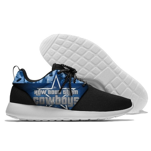 **(NEW-OFFICIALLY-LICENSED-N.F.L.DALLAS-COWBOYS-RUNNING-SHOES,MENS-OR-WOMENS-ROSHE-STYLE,LIGHT-WEIGHT-SPORT-PREMIUM-RUNNING-SHOES/WITH-OFFICIAL-COWBOYS-TEAM-COLORS & COWBOYS-TEAM-LOGOS,SPECIAL-CUSHIONED-COMFORT-INSOLES/COMES-IN-ALL-SIZES:)**