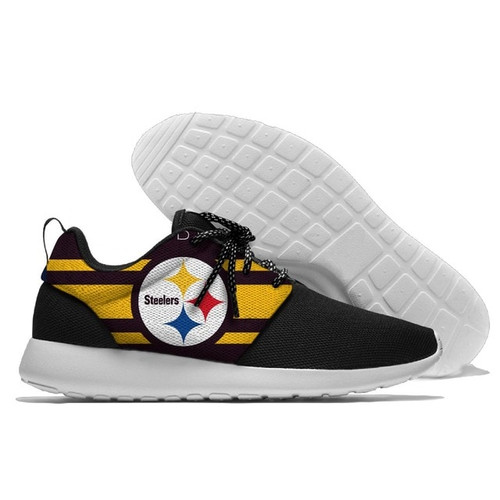 **(NEW-OFFICIALLY-LICENSED-N.F.L.PITTSBURGH-STEELERS-RUNNING-SHOES,MENS-OR-WOMENS-ROSHE-STYLE,LIGHT-WEIGHT-SPORT-PREMIUM-RUNNING-SHOES/WITH-OFFICIAL-STEELERS-TEAM-COLORS & STEELERS-TEAM-LOGOS,SPECIAL-CUSHIONED-COMFORT-INSOLES/COMES-IN-ALL-SIZES:)**