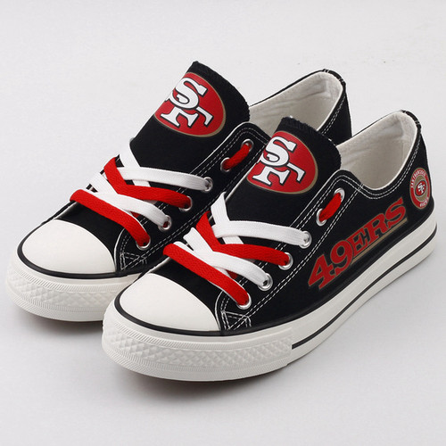 **(NEW-OFFICIALLY-LICENSED-N.F.L.SAN-FRANCISCO-49ERS-RUNNING-SHOES,MENS-OR-WOMENS-ROSHE-STYLE,LIGHT-WEIGHT-SPORT-PREMIUM-RUNNING-SHOES/WITH-OFFICIAL-49ERS-TEAM-COLORS & 49ERS-TEAM-LOGOS,SPECIAL-CUSHIONED-COMFORT-INSOLES/CUSTOM-DESIGN-RUNNING-SHOES)**
