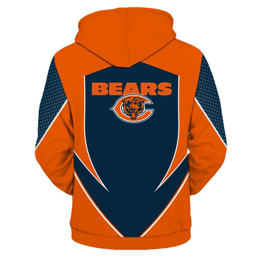 **(OFFICIALLY-LICENSED-N.F.L.CHICAGO-BEARS-TEAM-PULLOVER-HOODIES/NEW-CUSTOM-3D-GRAPHIC-PRINTED-DOUBLE-SIDED-DESIGNED/ALL-OVER-OFFICIAL-BEARS-LOGOS & IN-BEARS-TEAM-COLORS/WARM-PREMIUM-OFFICIAL-N.F.L.BEARS-TEAM-DEEP-POCKET-PULLOVER-HOODIES)**