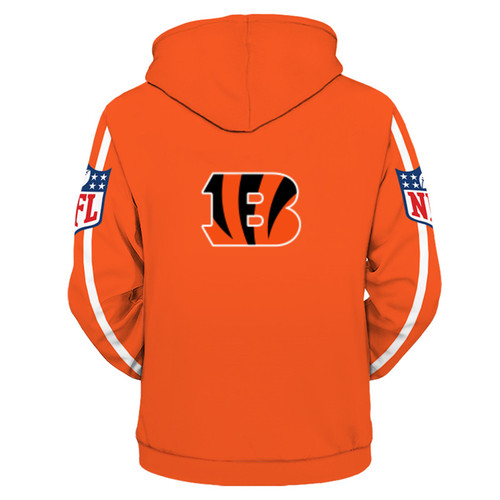 **(OFFICIALLY-LICENSED-N.F.L.CINCINNATI-BENGALS-TRENDY-PULLOVER-TEAM-HOODIES/NICE-CUSTOM-3D-GRAPHIC-PRINTED-DOUBLE-SIDED-ALL-OVER-OFFICIAL-BENGALS-LOGOS,IN-BENGELS-TEAM-COLORS/WARM-PREMIUM-OFFICIAL-N.F.L.BENGALS-TEAM-PULLOVER-DEEP-POCKET-HOODIES)**