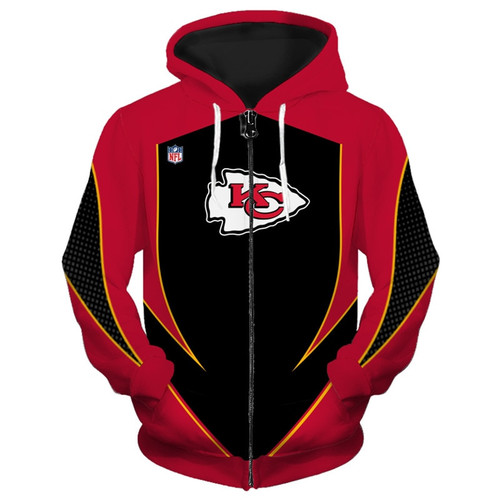 **(OFFICIALLY-LICENSED-N.F.L.KANSAS-CITY-CHIEFS-TEAM-ZIPPERED-HOODIES/NEW-CUSTOM-3D-GRAPHIC-PRINTED-DOUBLE-SIDED-DESIGNED/ALL-OVER-OFFICIAL-CHIEFS-LOGOS & IN-CHIEFS-TEAM-COLORS/WARM-PREMIUM-OFFICIAL-N.F.L.CHIEFS-TEAM/ZIPPERED-FRONT-POCKET-HOODIES)**