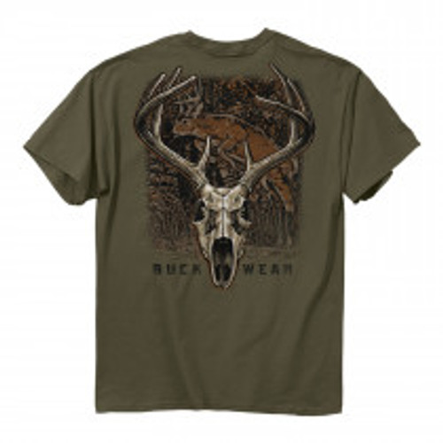 **(NEW-BUCKWEAR-BRAND-PREMIUM-HUNTING-TEES/NICE-CUSTOM-3D-GRAPHIC-PRINTED,DOUBLE-SIDED-DESIGN/BIG-TROPHY-BUCK-DEEP-IN-THE-WOODS & TROPHY-DEER-BUCK SKULL-TEES)**