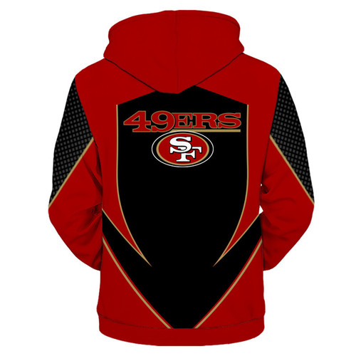 **(OFFICIALLY-LICENSED-N.F.L.SAN-FRANCISCO-49ERS-TEAM-ZIPPERED-HOODIES/NEW-CUSTOM-3D-GRAPHIC-PRINTED-DOUBLE-SIDED-DESIGNED/ALL-OVER-OFFICIAL-49ERS-LOGOS & IN-49ERS-TEAM-COLORS/WARM-PREMIUM-OFFICIAL-N.F.L.49ERS-TEAM/ZIPPERED-UP-FRONT-POCKET-HOODIES)**