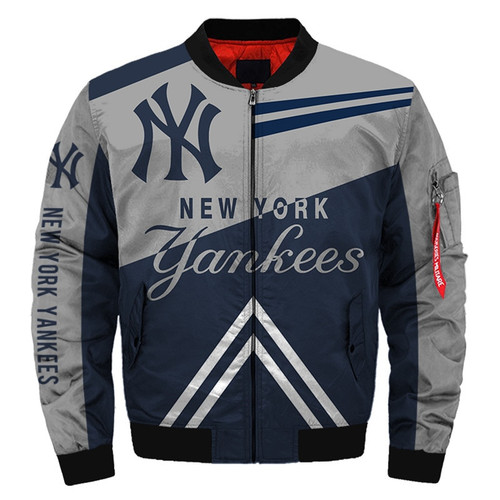**(OFFICIAL-M.L.B. NEW-YORK-YANKEES-TEAM-FLIGHT-JACKETS/NICE-CUSTOM-DETAILED-3D-GRAPHIC-PRINTED/PREMIUM-ALL-OVER-DOUBLE-SIDED-PRINTING/OFFICIAL-YANKEES-TEAM-COLORS & CLASSIC-YANKEES-3D-LOGOS,PREMIUM-ZIPPERED-FRONT-BOMBER/FLIGHT-M.L.B.JACKETS)**
