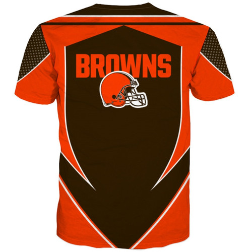 **(OFFICIAL-N.F.L.CLEVELAND-BROWNS-TEAM-TEES/NEW-CUSTOM-3D-EFFECT-GRAPHIC-PRINTED-DOUBLE-SIDED-DESIGNED/ALL-OVER-OFFICIAL-BROWNS-LOGOS & IN-OFFICIAL-ALL-BROWNS-TEAM-COLORS/NICE-PREMIUM-OFFICIAL-N.F.L.BROWNS-TRENDY-TEAM-TEES)**