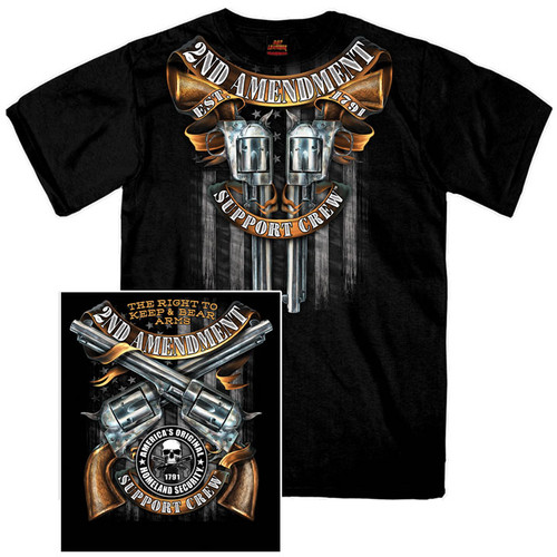 **(OFFICIAL-2ND-AMENDMENT,SUPPORT-CREW & RIGHT-TO-KEEP-AND-BEAR-ARMS,EST.1791/NICE-CUSTOM-GRAPHIC-PRINTED-PREMIUM-DOUBLE-SIDED-PRINT,PREMIUM-TEES:)**