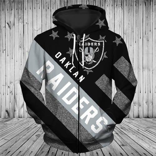 **(OFFICIAL-N.F.L.OAKLAND-RAIDERS-TRENDY-PATRIOTIC-ZIPPERED-TEAM-HOODIES/NICE-CUSTOM-3D-EFFECT-GRAPHIC-PRINTED-DOUBLE-SIDED-ALL-OVER-OFFICIAL-RAIDERS-LOGOS & IN-RAIDERS-TEAM-COLORS/WARM-PREMIUM-OFFICIAL-N.F.L.RAIDERS-TEAM-ZIPPERED-HOODIES)**