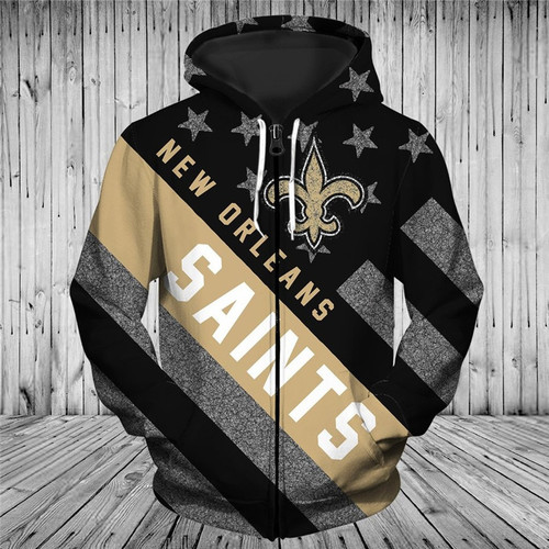**(OFFICIAL-N.F.L.NEW-ORLEANS-SAINTS-TRENDY-PATRIOTIC-ZIPPERED-TEAM-HOODIES/NICE-CUSTOM-3D-EFFECT-GRAPHIC-PRINTED-DOUBLE-SIDED-ALL-OVER-OFFICIAL-SAINTS-LOGOS & CLASSIC-SAINTS-TEAM-COLORS/WARM-PREMIUM-OFFICIAL-N.F.L.SAINTS-TEAM-ZIPPERED-HOODIES)**