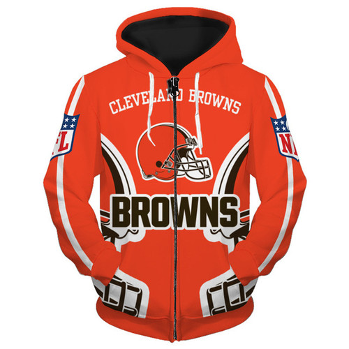 **(OFFICIALLY-LICENSED-N.F.L.CLEVELAND-BROWNS-TRENDY-ZIPPERED-TEAM-HOODIES/NICE-CUSTOM-3D-EFFECT-GRAPHIC-PRINTED-DOUBLE-SIDED-ALL-OVER-OFFICIAL-BROWNS-LOGOS & IN-BROWNS-TEAM-COLORS/WARM-PREMIUM-OFFICIAL-N.F.L.BROWNS-TEAM-ZIPPERED-FRONT-HOODIES)**