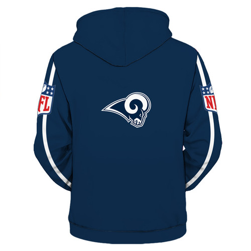 **(OFFICIALLY-LICENSED-N.F.L.LOS-ANGELES-RAMS-TRENDY-ZIPPERED-TEAM-HOODIES/NICE-CUSTOM-3D-GRAPHIC-PRINTED-DOUBLE-SIDED-ALL-OVER-OFFICIAL-RAMS-LOGOS & OFFICIAL-RAMS-CLASSIC-TEAM-COLORS/WARM-PREMIUM-OFFICIAL-N.F.L.RAMS-TEAM-ZIPPERED-FRONT-HOODIES)**