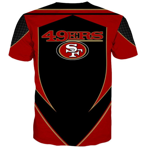 **(OFFICIALLY-LICENSED-N.F.L.SAN-FRANCISCO-49ERS-TEAM-TEES/NEW-CUSTOM-3D-EFFECT-GRAPHIC-PRINTED-DOUBLE-SIDED-DESIGNED/ALL-OVER-OFFICIAL-49ERS-LOGOS & CLASSIC-OFFICIAL-49ERS-TEAM-COLORS/NICE-PREMIUM-OFFICIAL-N.F.L.49ERS-TRENDY-TEAM-TEES)**