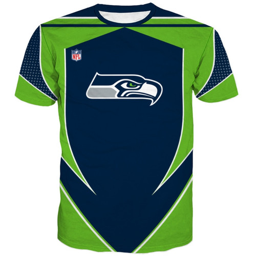**(OFFICIALLY-LICENSED-N.F.L.SEATTLE-SEAHAWKS-TEAM-TEES/NEW-CUSTOM-3D-EFFECT-GRAPHIC-PRINTED-DOUBLE-SIDED-DESIGNED/ALL-OVER-OFFICIAL-SEAHAWKS-LOGOS & IN-CLASSIC-OFFICIAL-SEAHAWKS-TEAM-COLORS/NICE-PREMIUM-OFFICIAL-N.F.L.SEAHAWKS-TRENDY-TEAM-TEES)**