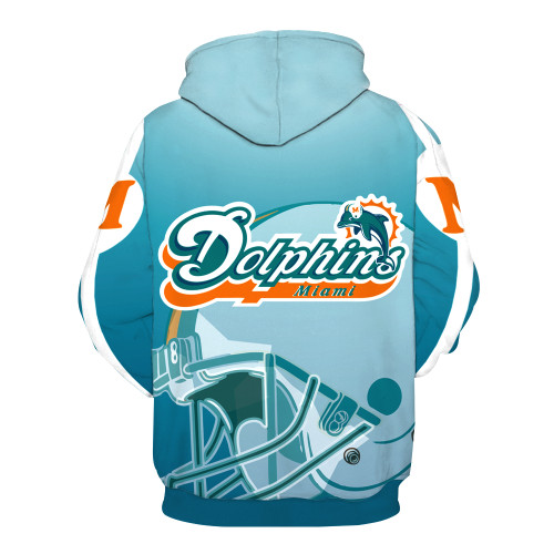**(OFFICIALLY-LICENSED-N.F.L.MIAMI-DOLPHINS-TRENDY-PULLOVER-TEAM-HOODIES/NICE-CUSTOM-3D-EFFECT-GRAPHIC-PRINTED-DOUBLE-SIDED-ALL-OVER-OFFICIAL-DOLPHINS-LOGOS & IN-DOLPHINS-TEAM-COLORS/WARM-PREMIUM-OFFICIAL-TEAM-PULLOVER-POCKET-HOODIES)**