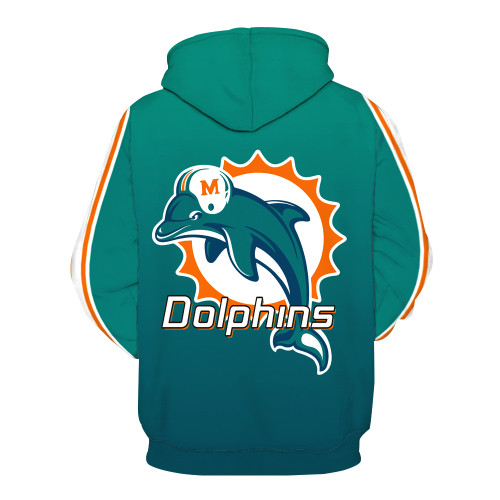 **(OFFICIALLY-LICENSED-N.F.L.MIAMI-DOLPHINS-TRENDY-PULLOVER-TEAM-HOODIES/NICE-CUSTOM-3D-EFFECT-GRAPHIC-PRINTED-DOUBLE-SIDED-ALL-OVER-OFFICIAL-DOLPHINS-LOGOS & ALL-DOLPHINS-OFFICIAL-TEAM-COLORS/WARM-PREMIUM-OFFICIAL-TEAM-PULLOVER-POCKET-HOODIES)**